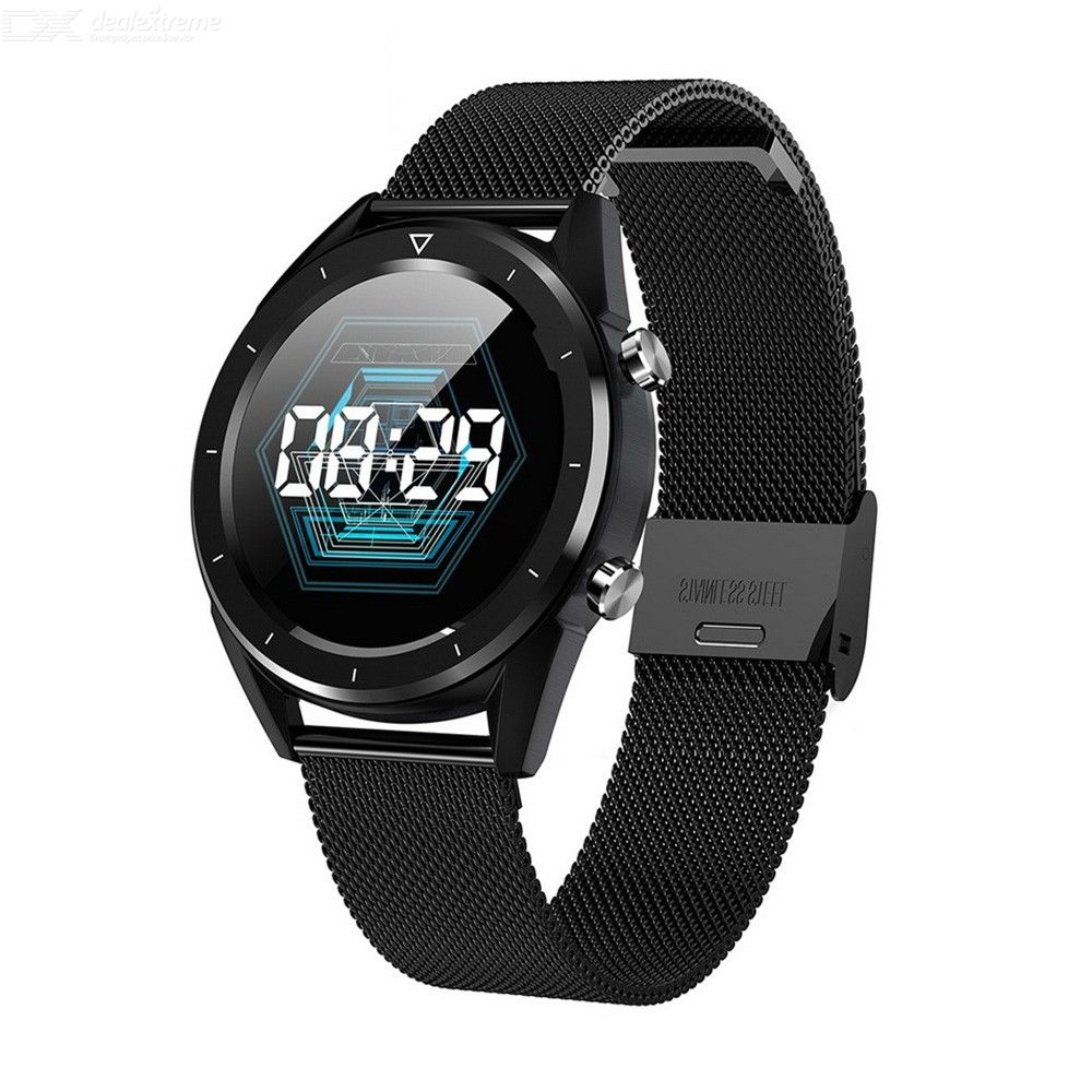 1.54 Inch Smart Sports Watch ECG Heart Rate Blood Pressure Oxygen Monitoring Bracelet with Steel Strap for Android IOS