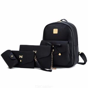 Womens Bag Set 4 Pieces Of Bow PU Leather Bags for Ladies