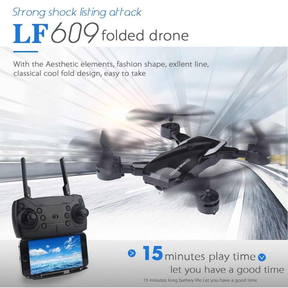 LF609 Foldable WiFi FPV RC Drone Altitude Hold Headless Mode One Key Return Quadcopter
