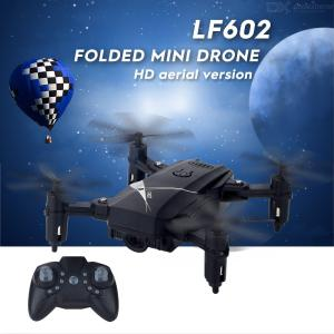 LF602 RC Drone 2.4G Altitude Hold Headless Mode Training Toy Foldable Selfie Quadcopter HD Camera