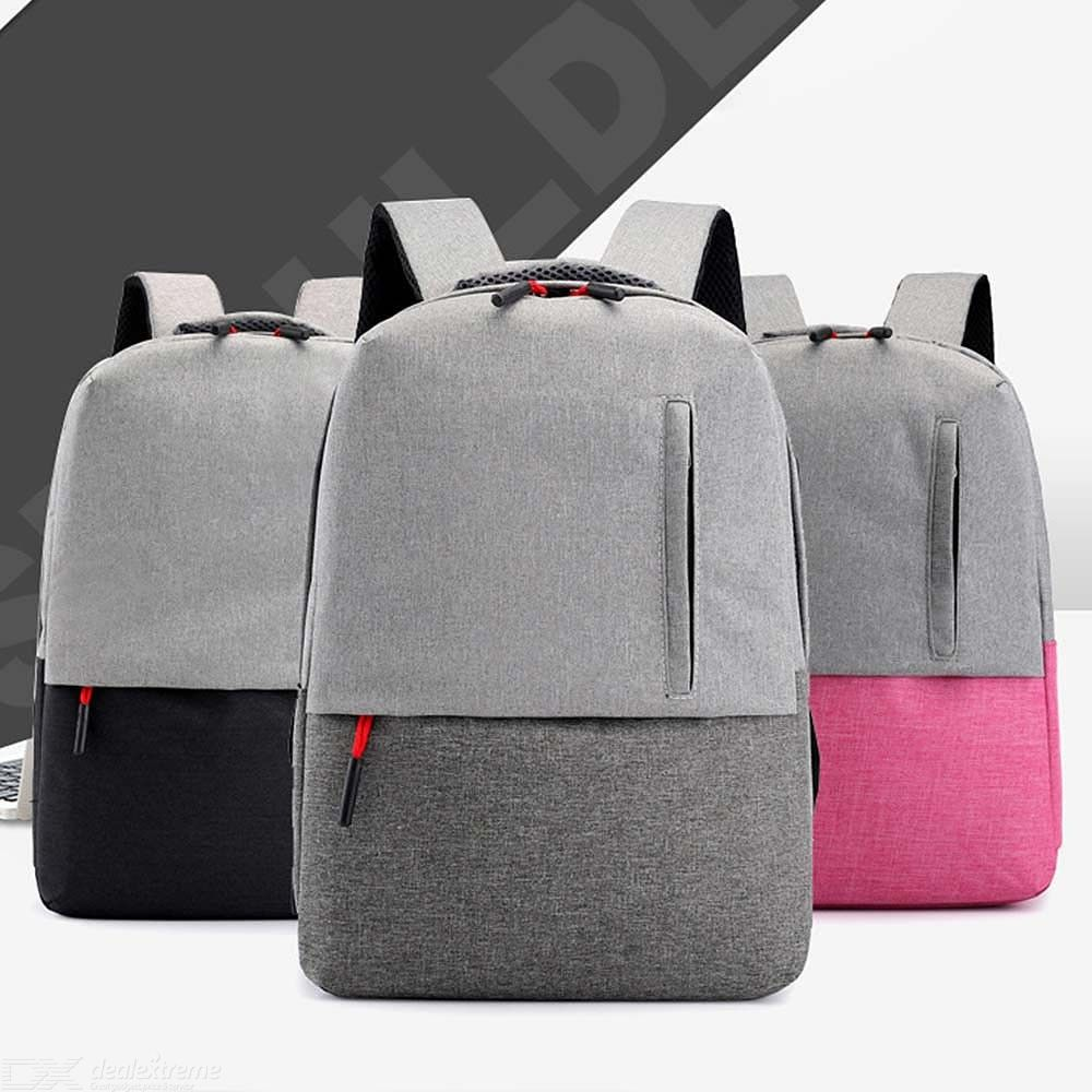 Laptop Backpack Waterproof Durable Zipper Travel Bag With USB Charging Port Fits 17 Inch Computer