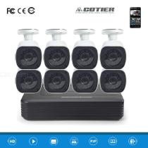 COTIER-A8B6Kit-2MP-8CH-1080P-CCTV-Security-Camera-System-AHD-DVR-Surveillance-Kit-White