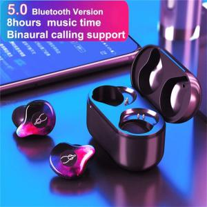 Bluetooth 5.0 Wireless Earbuds Mini Wireless Earphone With Charging Case 6 - 8 Hours Talk Time