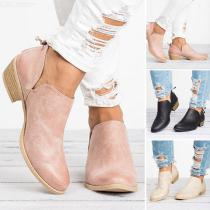 Womens-Low-Heel-Shallow-Boots-Fashion-Solid-PU-Leather-Shoes-With-Non-slip-Sole-Zipper-Closure