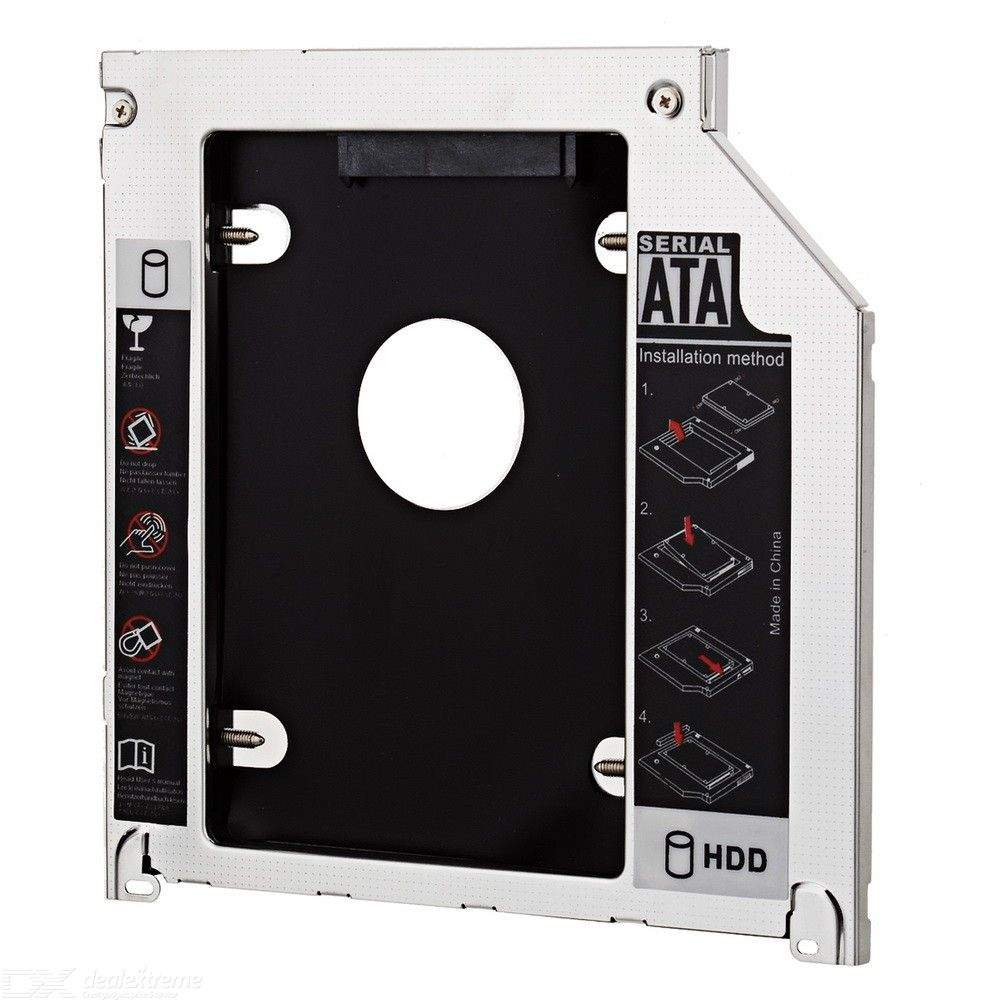 2.5 Inch SATA To SATA HDD Caddy For MacBook Pro + More - Silver + Black