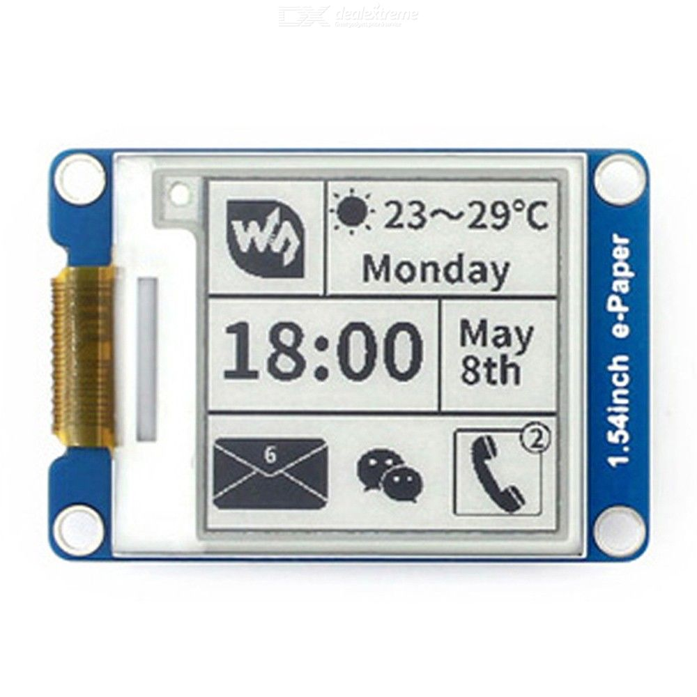 Waveshare 1.54 Inch E-Ink Display Module For Arduino / Nucleo / Pi