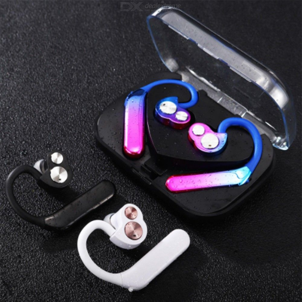 Bluetooth 5.0 Earbuds TWS Wireless Stereo Earphones With Mic IPX 7 Noise Cancellation 8 - 10 Hours Playtime