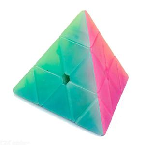 QiYi Qiming Pyramid Speed Cube Smooth Magic Cubes Finger Puzzle Toy