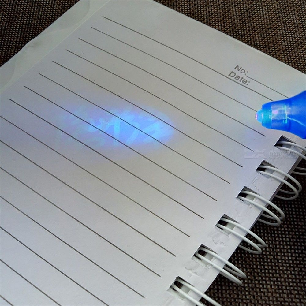 7 Color Invisible Ink Pen Set Spy Marker With UV Light