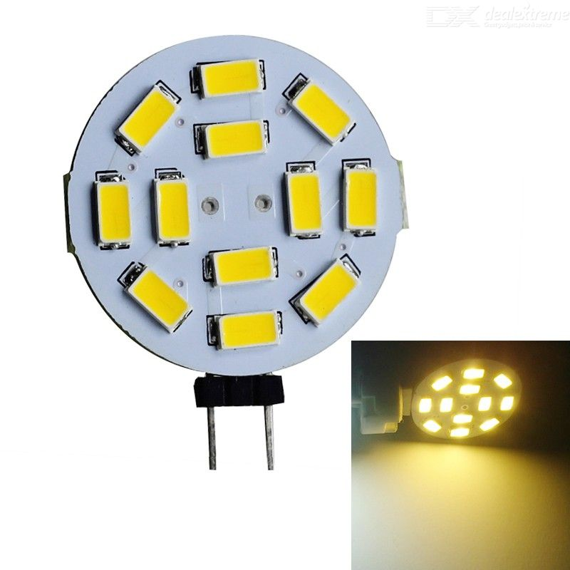 JIAWEN G4 6W 450lm 12-5630 SMD Warm White Round Car Reading Light (DC 12V)