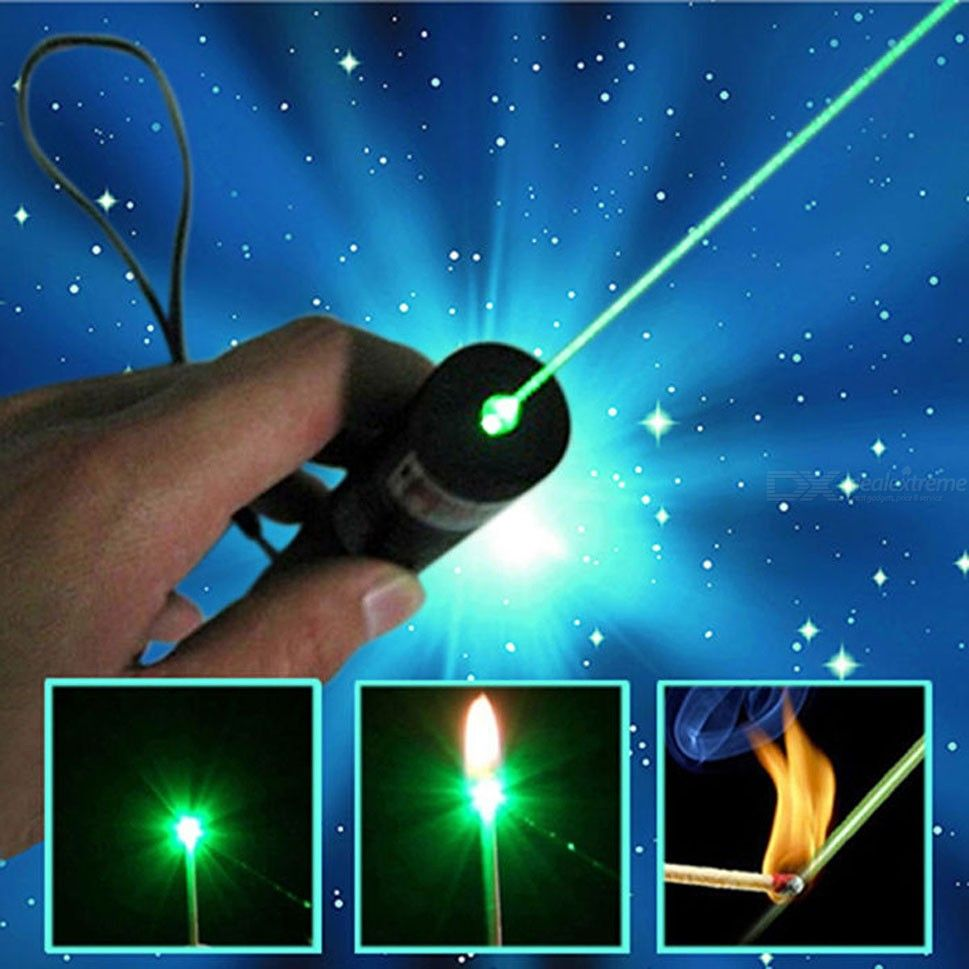 Green Laser Pointer Pen 532nm Adjustable Beam + Charger