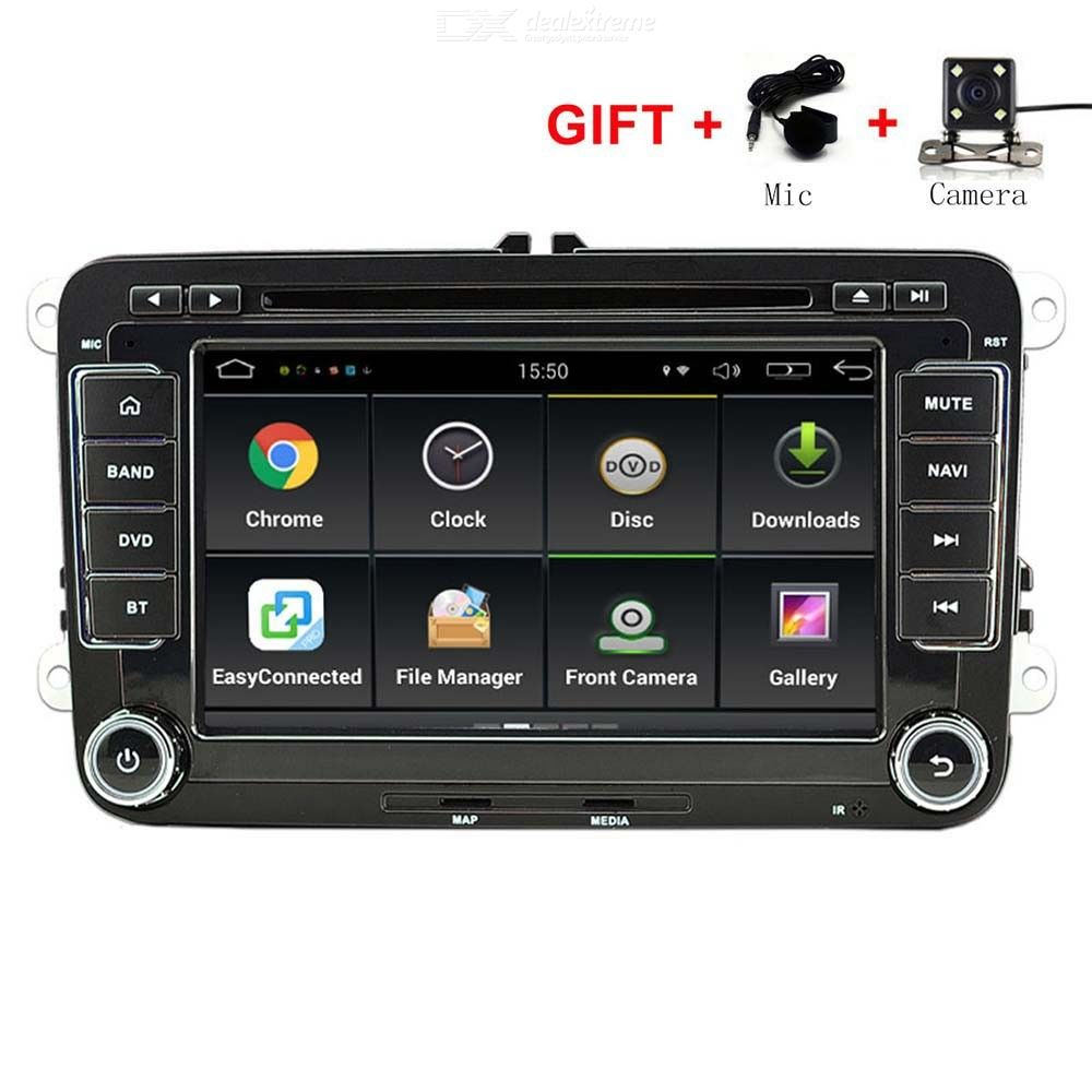 Funrover 7 Inch Android 6.0 OEM Car DVD Player W/ 1024*600 GPS Auto Radio RDS For VW Golf Polo Jetta Skoda Seat Cars