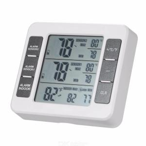 LCD Digital Thermometer Indoor Outdoor Temperature Meter With Weather Station C/F Display W/1PC Transmitter