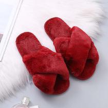 Comfortable-Fluffy-Home-Slippers-Open-Toe-Cross-Flat-Shoes-For-Women