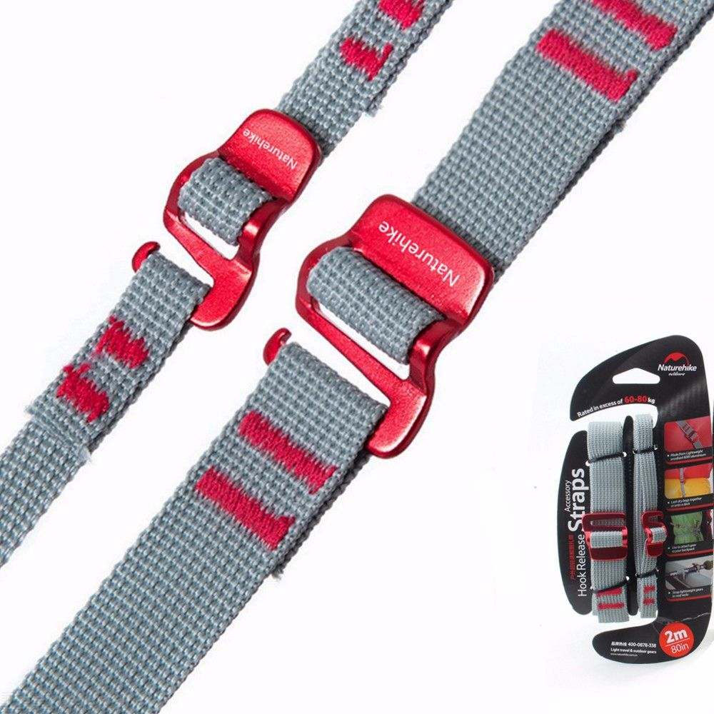 2Pcs Travel Nylon Luggage Straps Suitcase Webbing Strap Belts Baggage Belt For Backpack Cycling Outdoor Hiking 2m
