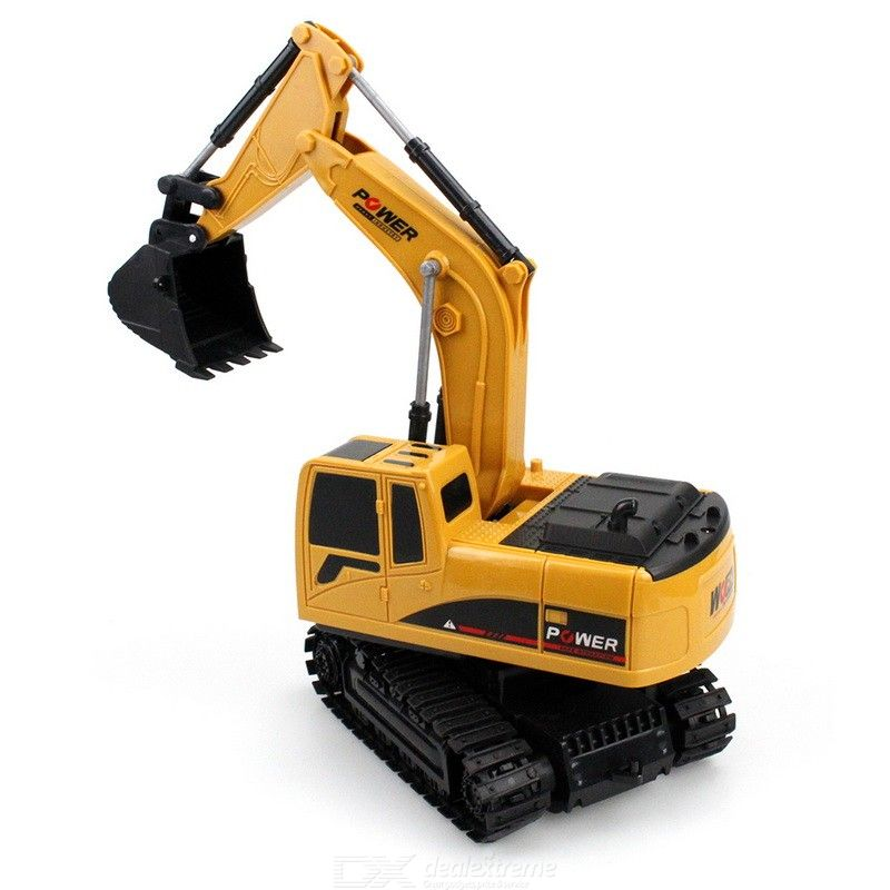 6 Channel Remote Control Excavator Rechargeable Toy Construction Tractor With Light