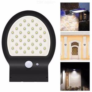 Solar Wall Light 2-in-1 Outdoor Motion Sensor Wall Sconce Blue + White