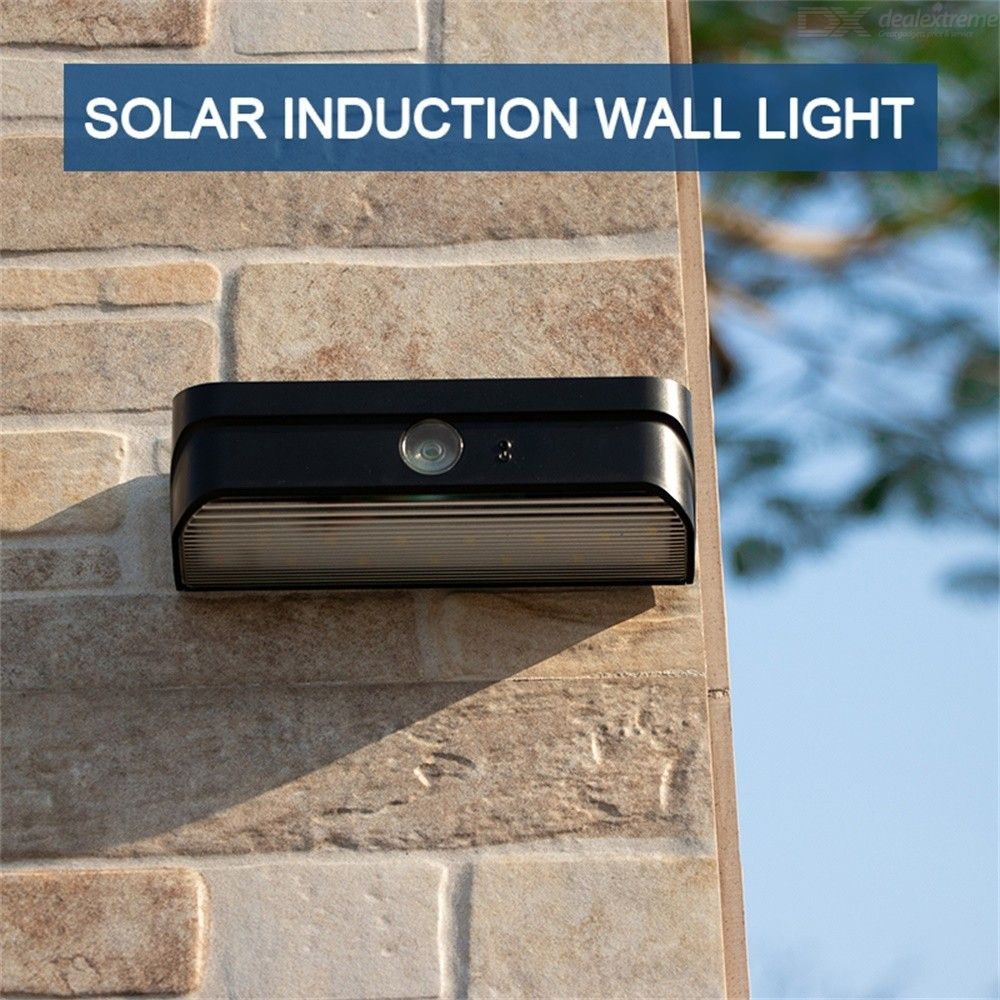 1W LED Solar Motion Light 120lm 1200mAh Battery IP65 Waterproof Outdoor Lamb