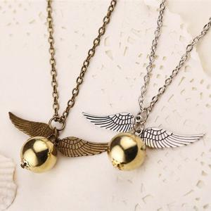 Harry Potter Golden Snitch Cosplay Delicate Minimalist Pendant Necklaces For Women