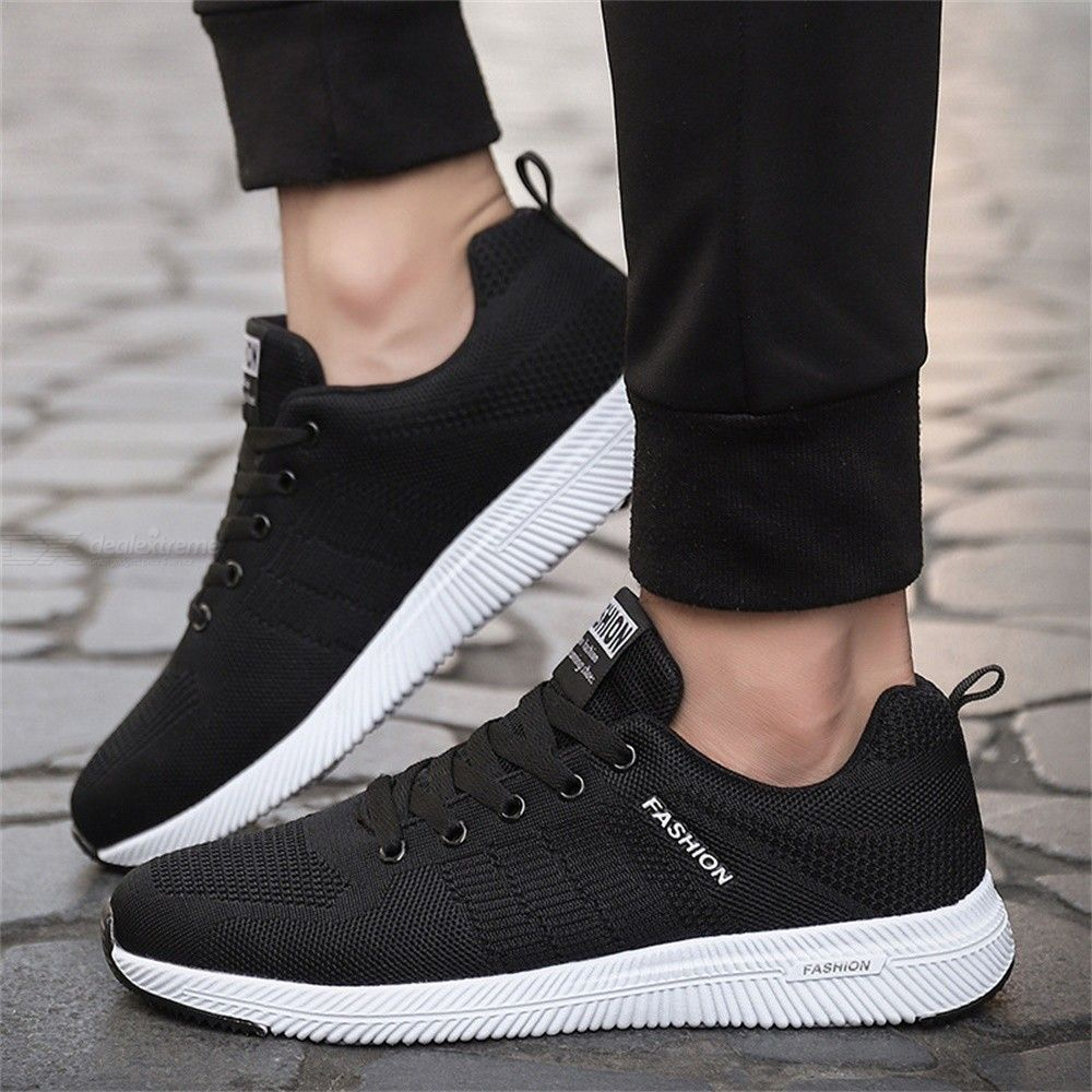 New Spring Casual Shoes Sport Breathable Lightweight Net Shoes For Men