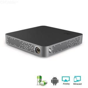 Mini HD Portátil DLP Projetor De Escritório, Home Theater Com Android 7.0 Bluetooth 4.0 Bateria 8000 Mah HDMI USB