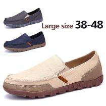 Mens-Casual-Cloth-Shoes-Basic-Canvas-Slip-On-Loafers
