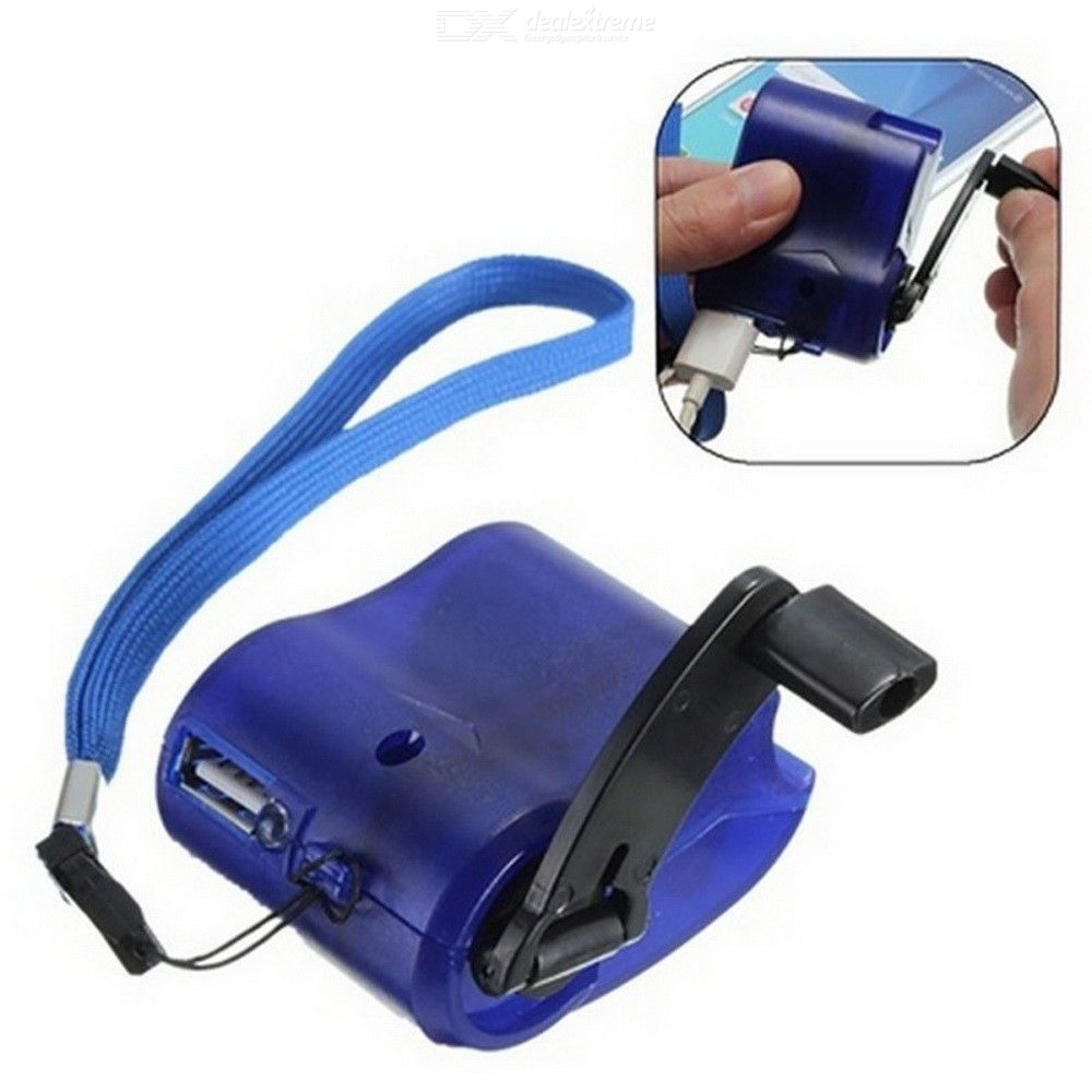Outdoor Hand Crank Charger Emergency USB Mobile Charging Block
