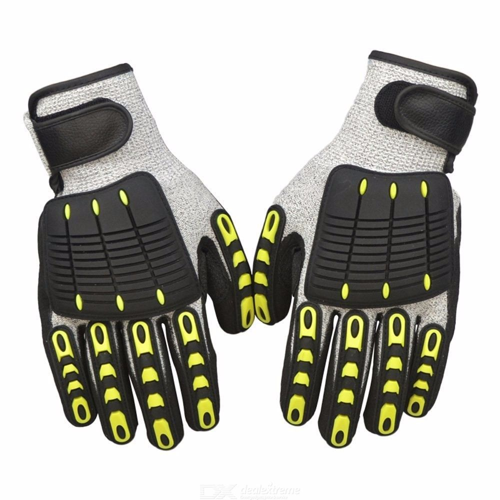 1 pair Protective Work Gloves Level 5 Protection Cut Resistant Anti Impact Gloves