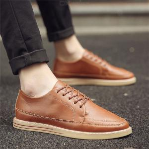 New British Leather Shoes Flat Fashional Casual Shoes For Men