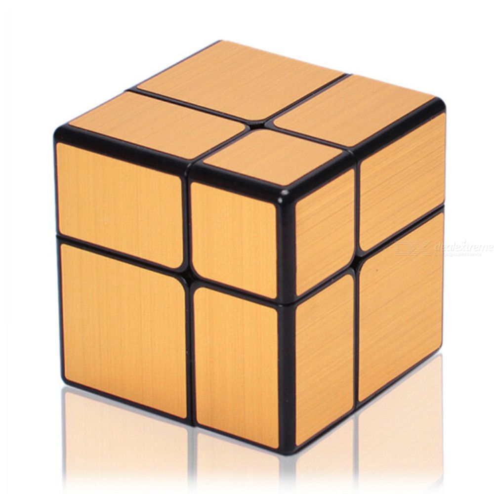 QiYi 2x2 Mirror Speed Cube Smooth Magic Cubes Finger Puzzle Toy