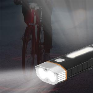 HJ-048 dual light source front light COB + LED beads 500LM Waterproof for bicycle