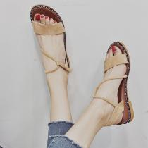 Womens-Flat-Sandals-Solid-Open-Toe-Shoes-With-Rope
