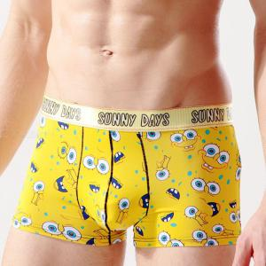 Mens Ice Silk Boxers Stylish Print Boxer Briefs With Pouch
