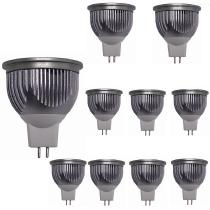 10-Pcs-5W-White-LED-Bulb-And-Base-Holder-Adapter-Silver