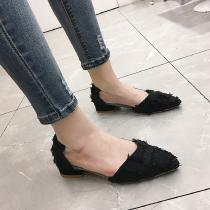 Womens-Pointed-Toe-Flats-Solid-Soft-Slip-On-Shoes-with-Rubber-Sole