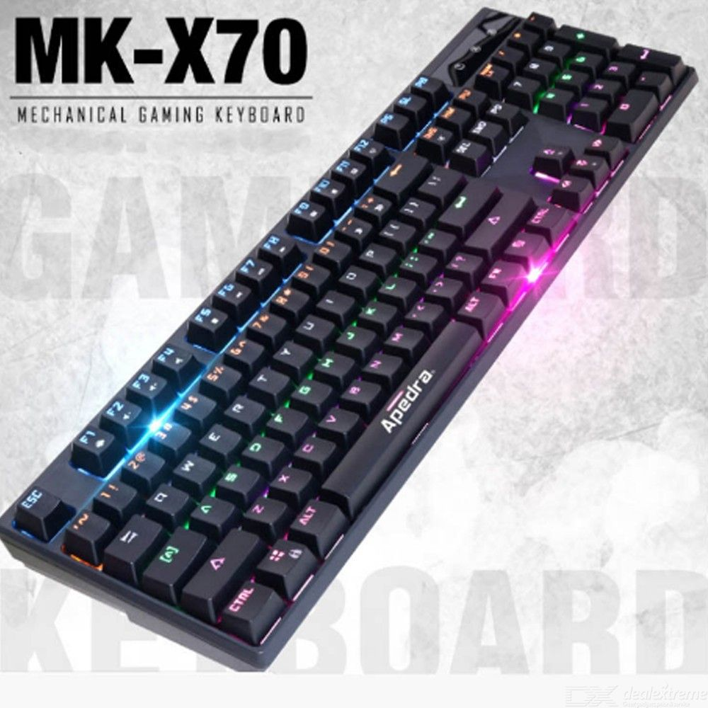 MK-X70 Wired Mechanical Keyboard Universal Color Backlight Gaming Keyboards