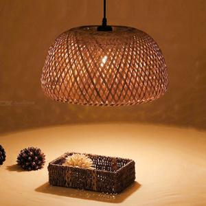 E27 Retro Woven Design Pendant Lamp Home Personalized Chandelier for Living Room Restaurant Bar Decoration
