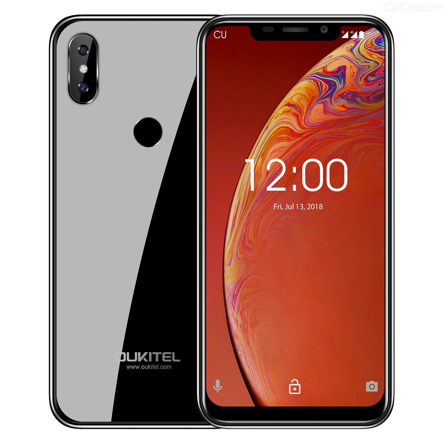 OUKITEL C13 Pro Newest Android 9.0 Smartphone, 6.18 Inch Screen 2GB RAM+16GB ROM 3000mAh with Face Unlocking