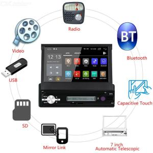 Multi Function 7 InchCar GPS Android 8.1 Stereo BT Player Car Radio Full HD Screen