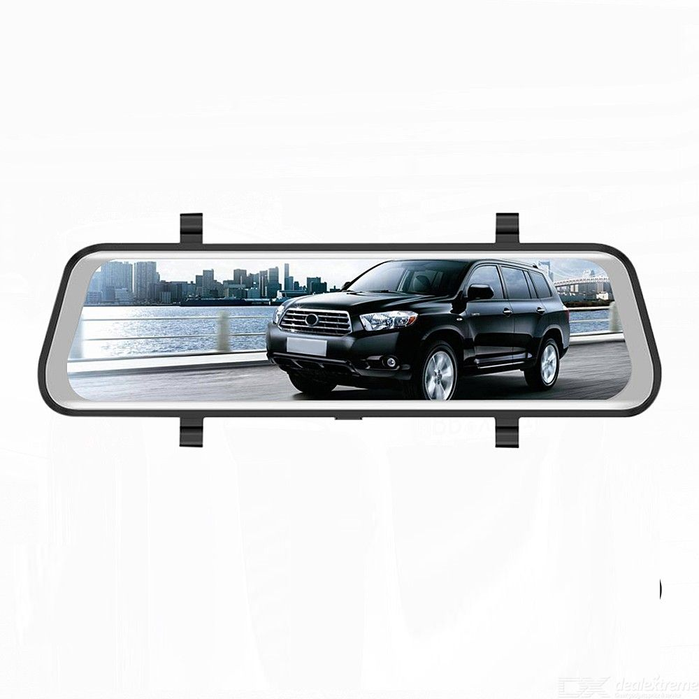 Double-recording RM-LZ9660 9.66 Inch Vehicle-borne Streaming Media Rearview Mirror Recorder