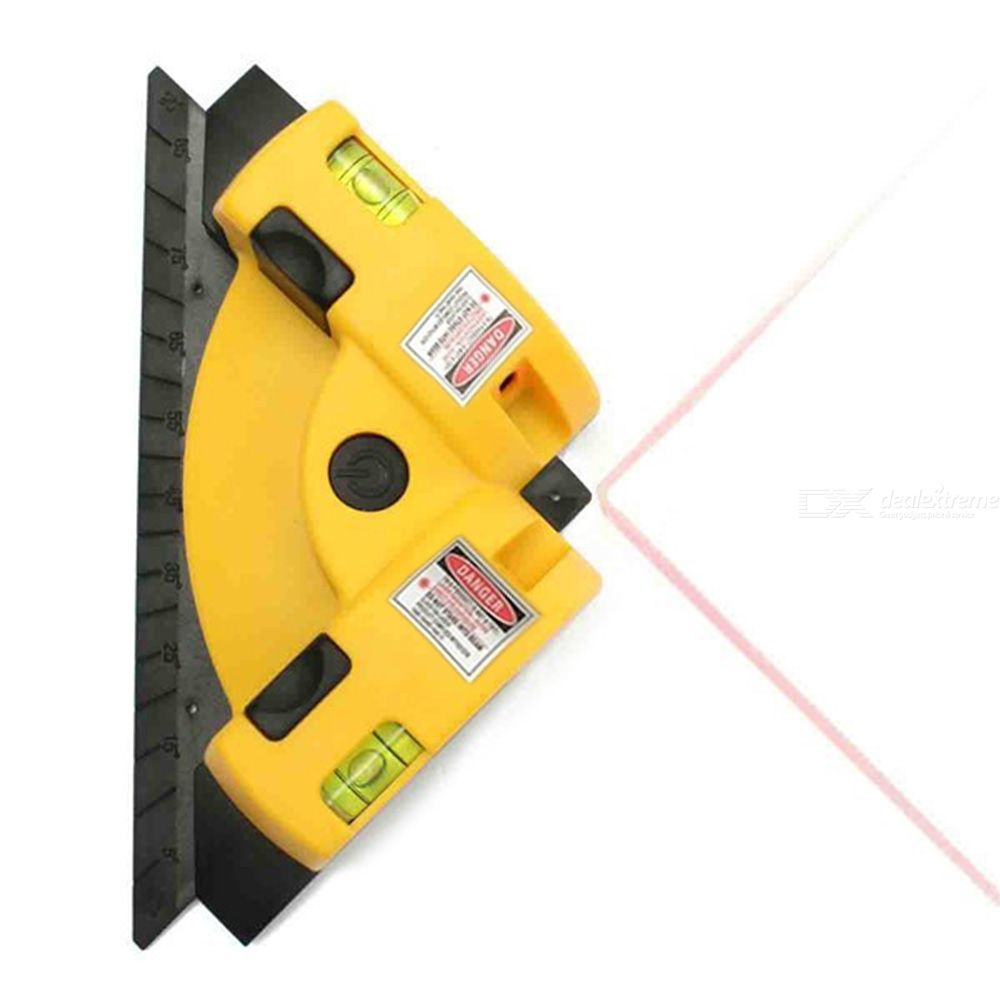 Right Angle 90 Degree Horizontal Vertical Laser Line Projection Square Level Laser with Two Suction Cups