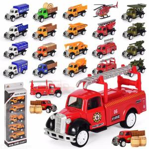 5 Pack Mini Toy Truck Kit Toy Car Play Set For Toddler
