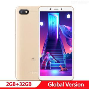 Original Global Version Xiaomi Redmi 6A 2GB RAM 32GB ROM Smartphone 5.45 Inch Full Screen A22 13MP Camera AI Face Unlock
