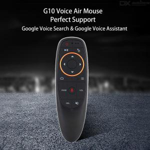 GTcoupe G10 Voice Remote Control 2.4G Wireless Air Mouse Microphone IR Learning for Android tv box T9 H96 Max X96 mini