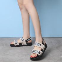 Fashion-Letter-Canvas-Sandals-Casual-Back-Strap-Shoes-With-Tassels-For-Women