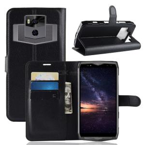 PU Flip Cover Case with Phone Stand for Ulefone Power 5 / 5S Phone Protection