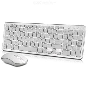 Bluetooth Wireless Keyboard and Mouse,2.4GHz Ultra Thin Wireless Keyboard Mouse Combo Set for Computer, Laptop, PC, Desktop