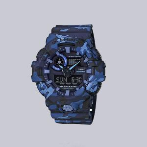 Casio G-Shock GA-700CM-2A Digital Watch With Resin Band For Men - Camouflage Blue