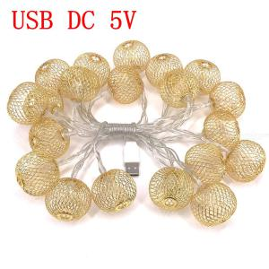 Yellow 10W 3M/20 Lantern LEDs Light String, Waterproof Indoor or Outdoor Lamp for Holiday Party Lighting Decoration