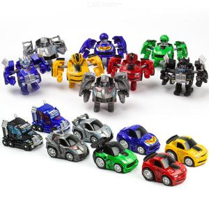 Pocket Toy Car Mini Transformers Vehicles Toy For Toddlers